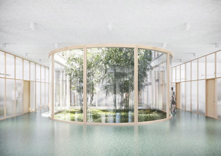 Perspektive öffentliches Foyer