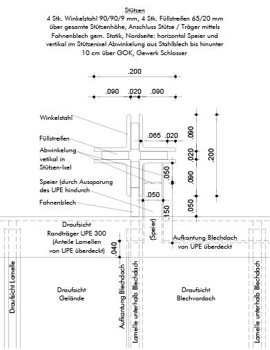 Detail Draufsicht Kontenpunkt Stützenkopf