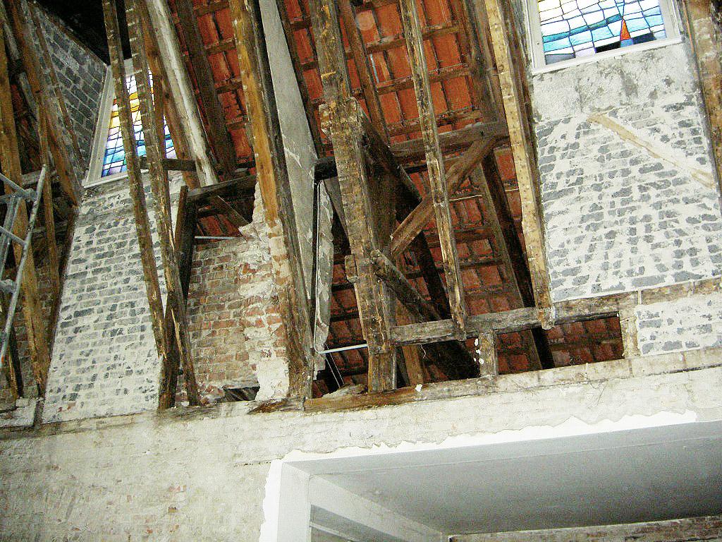 Bauzustand während der Sanierungsarbeiten
