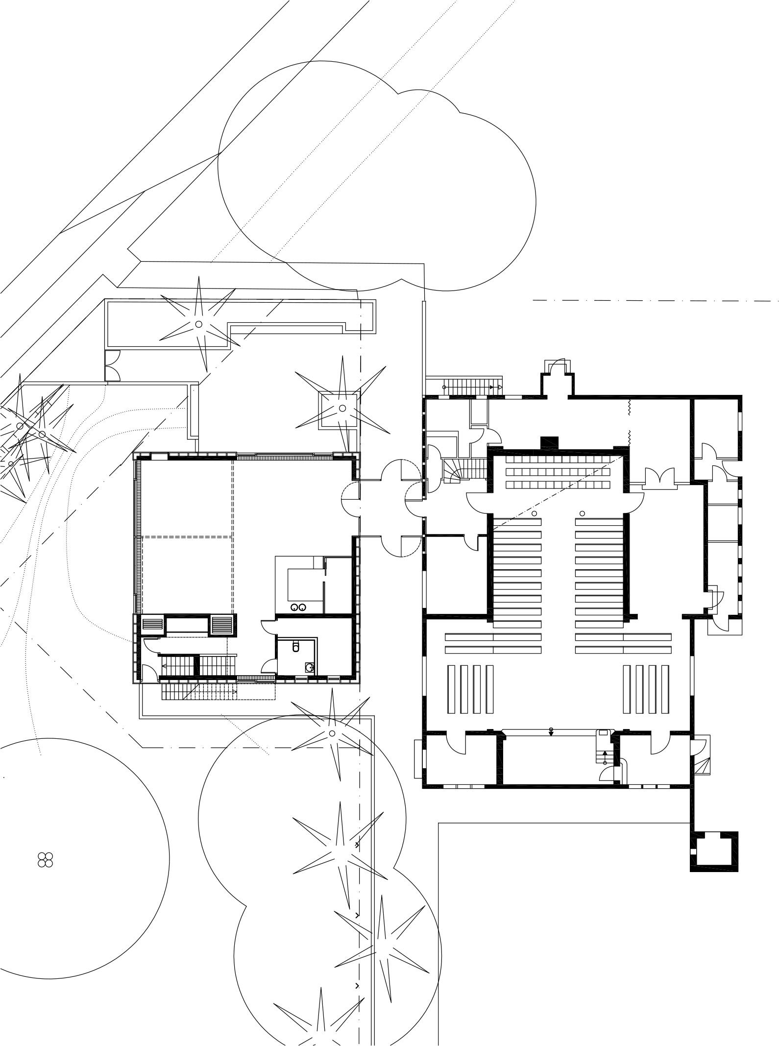 Grundriss Kirche mit Erweiterungsbau