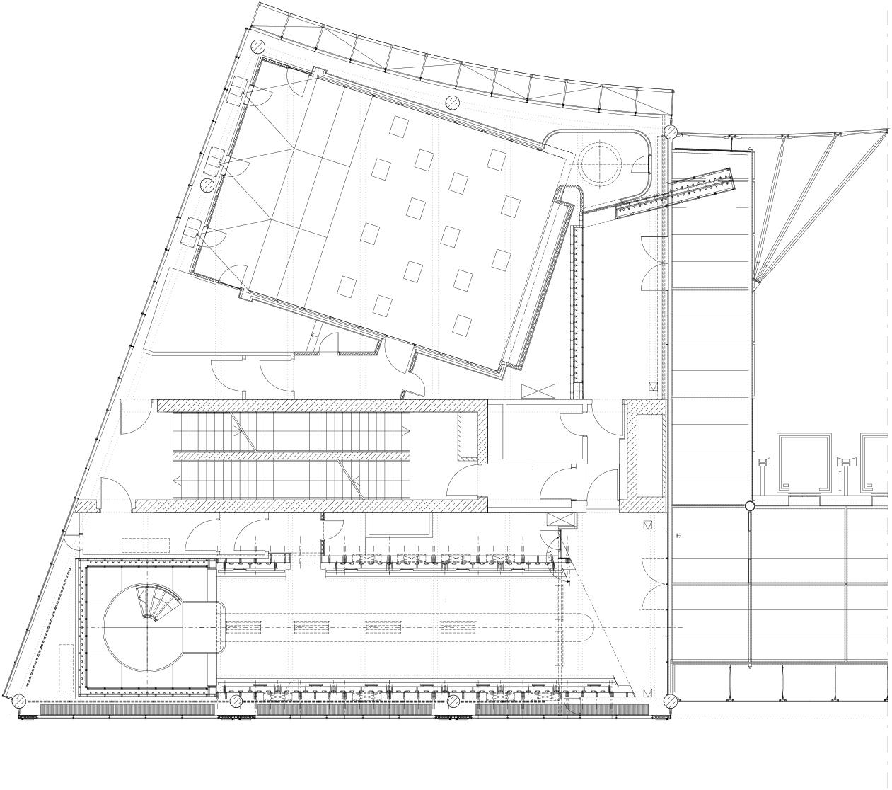 Grundriss erstes von insgesamt 3 Teilgeschossen