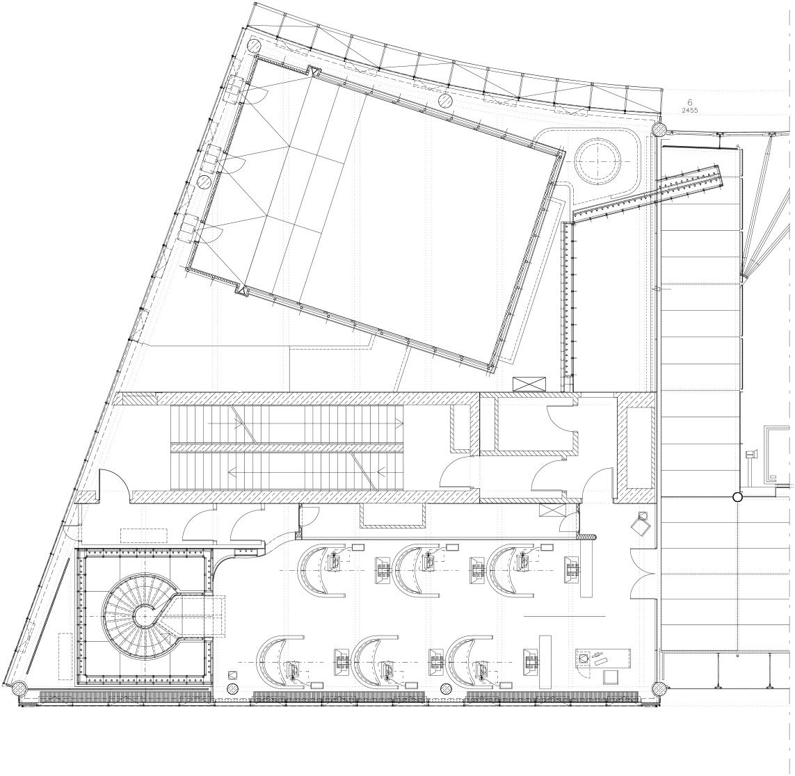 Grundriss zweites von insgesamt 3 Teilgeschossen