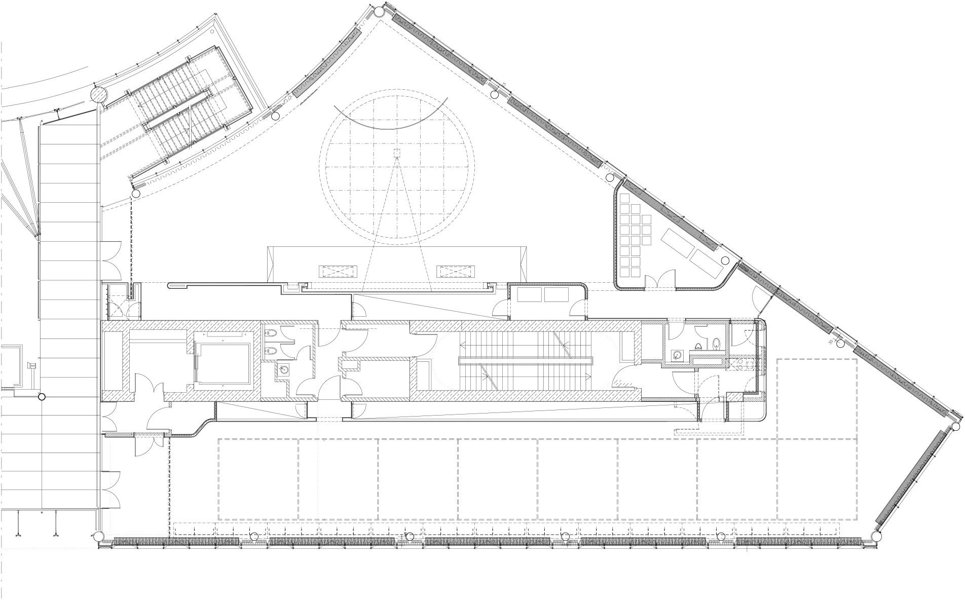 Grundriss drittes von insgesamt 3 Teilgeschossen
