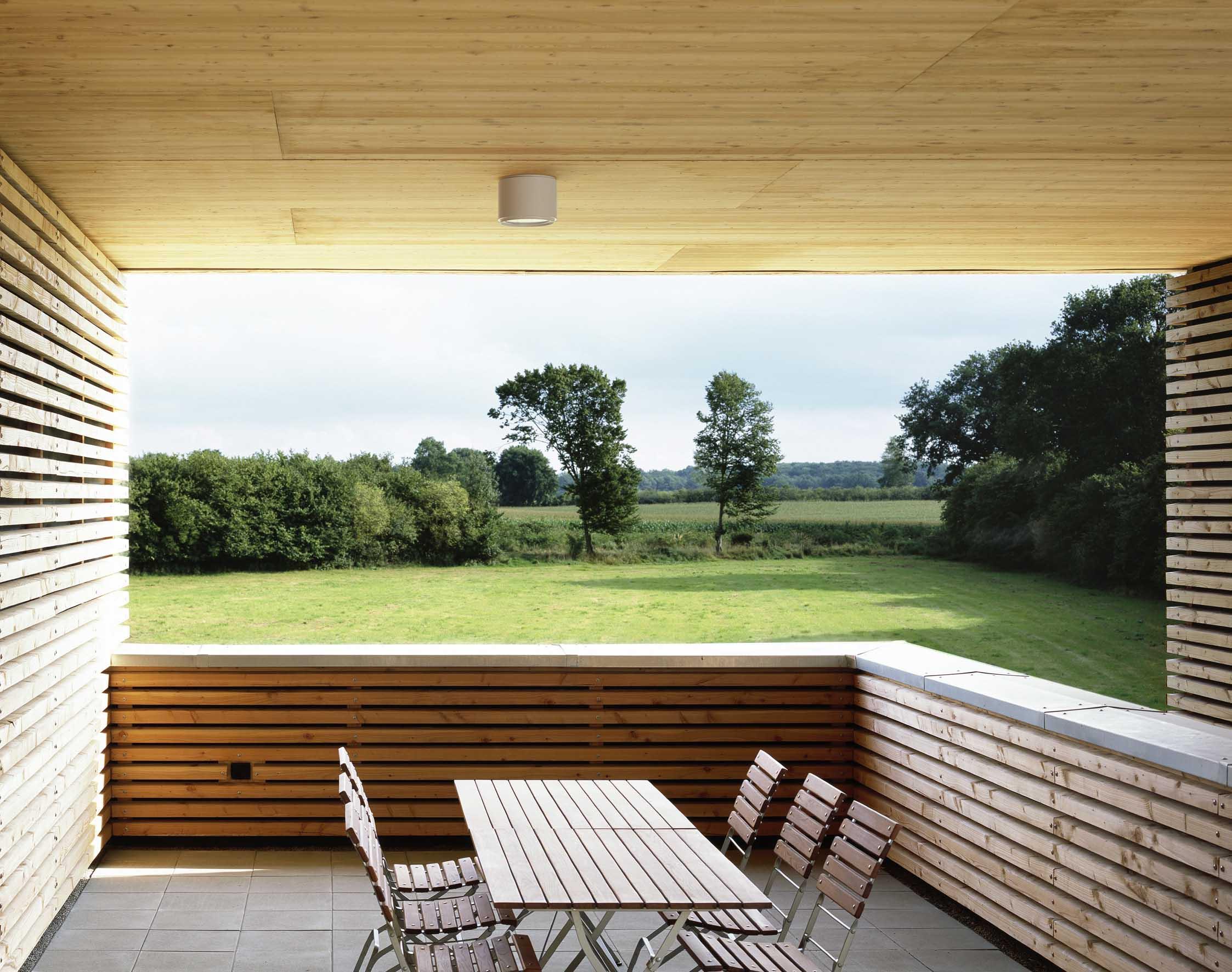 Terrasse am Ende des Besuchergangs