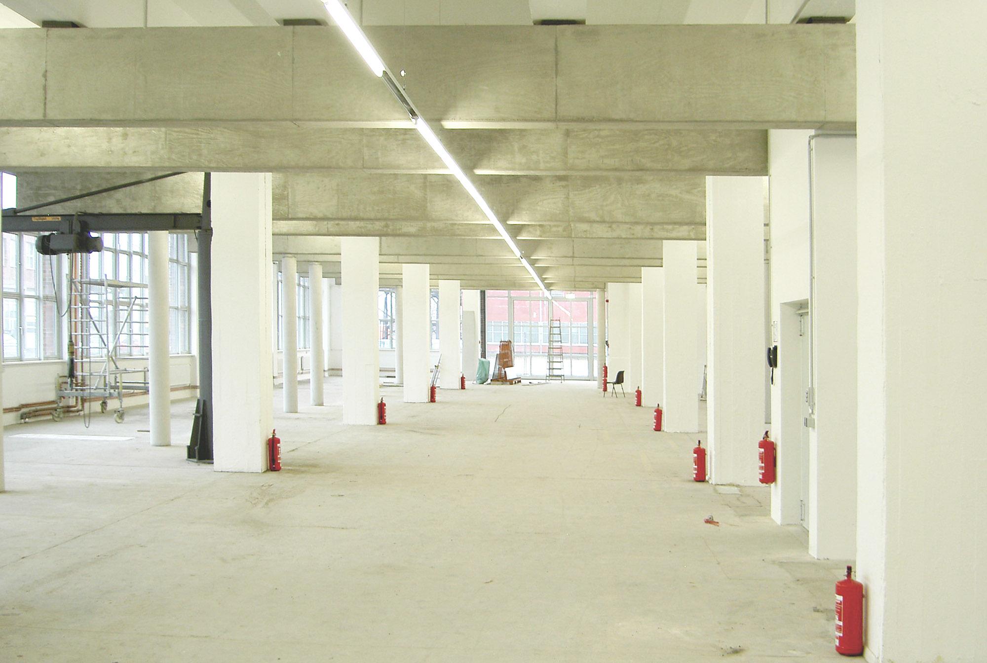 Sanierte Halle Gebäude 10