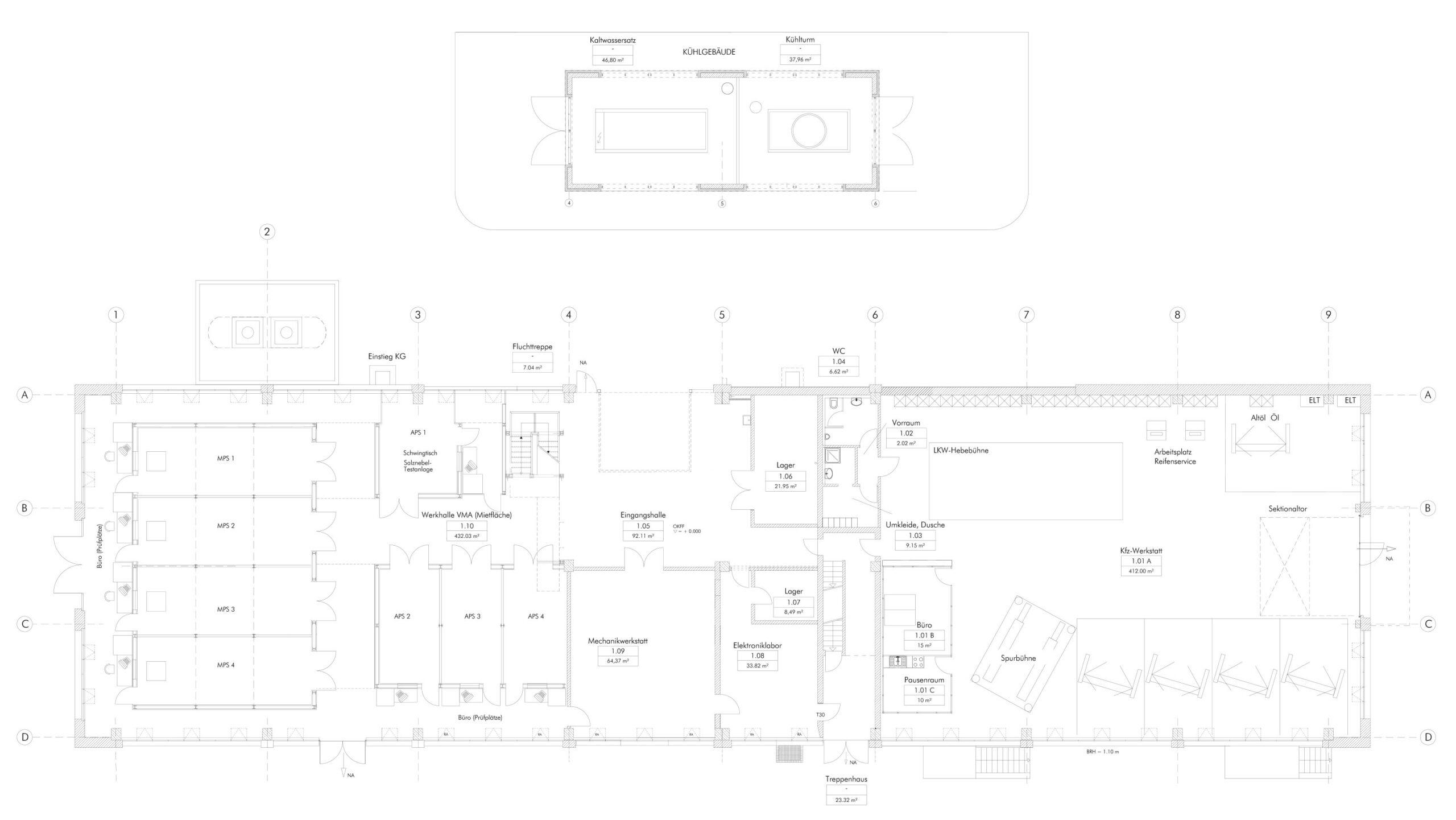 Umbau, Ausbau und Sanierung von Gebäuden im Gewerbepark Georg Knorr in Berlin-Marzahn Herrichtung denkmalgeschützter Hallen für neue Nutzer