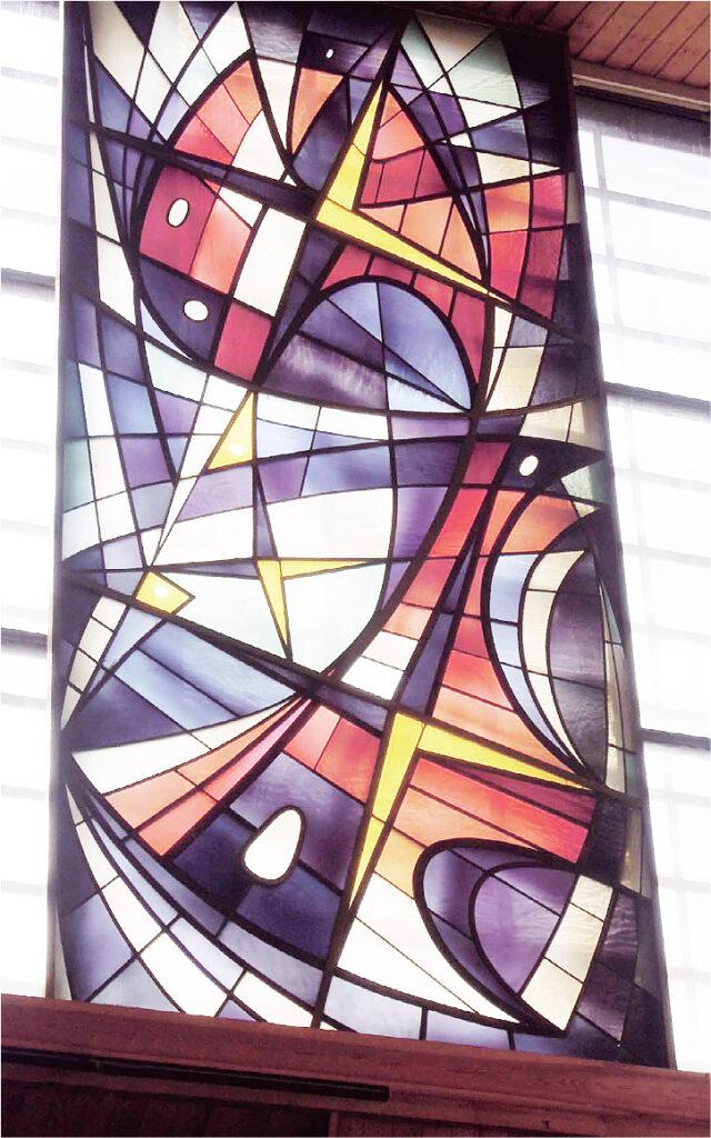 Detail farbiges Fenster