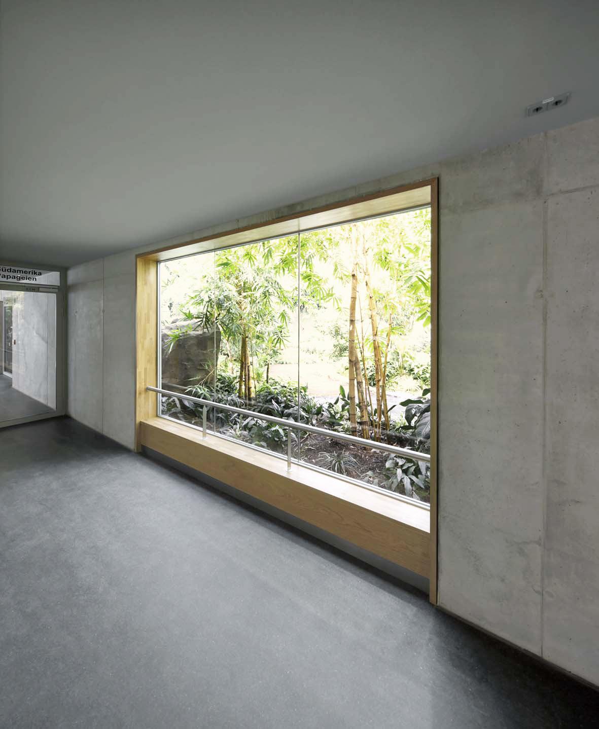 Fenster zur Freiflughalle