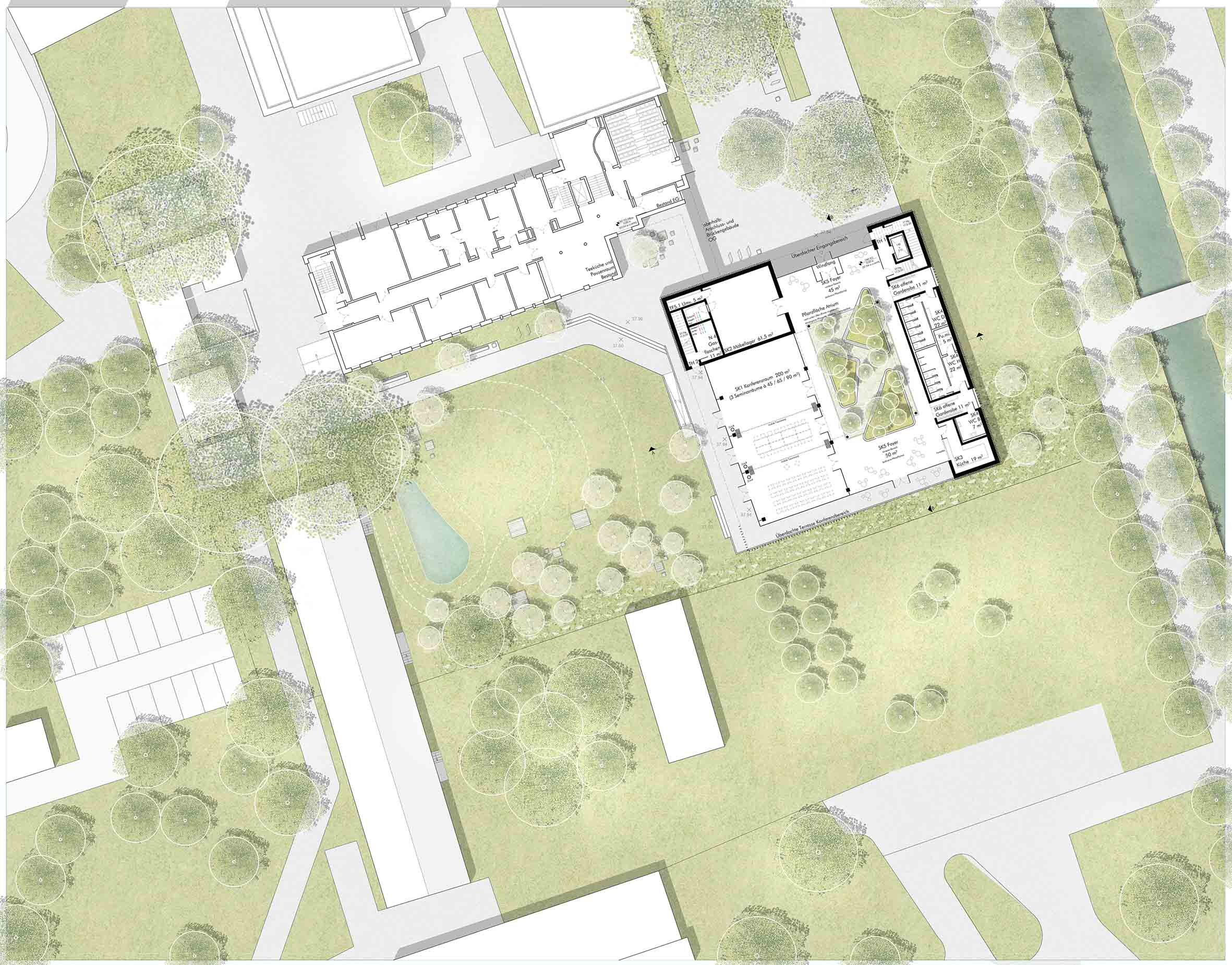 Erdgeschoss mit Außenanlage
